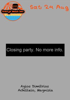 Oranje beach bar closing party :-(